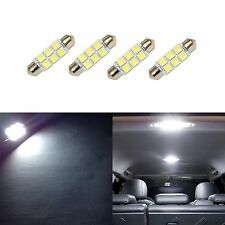 4 Super White 42mm 578 LED 211-2 Bulbs Festoon 5050 Dome Map Cargo Light 4xC4