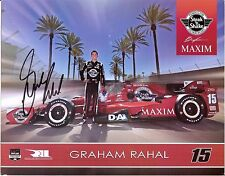 2015 GRAHAM RAHAL signed Steak 'n Shake INDIANAPOLIS 500 PHOTO CARD INDY CAR wCA