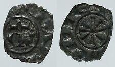 pcc935_2) Manfredi (1258-66) Messina DENARO doppia croce  / M omega Spahr 215