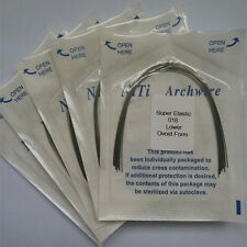 Dental Orthodontic Super Elastic Niti Arch Wires Round Ovoid Form 50 Packs new