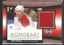 MIKE RIBEIRO 2005/06 UPPER DECK TRILOGY HONORARY SWATCHES GAMES JERSEY $15