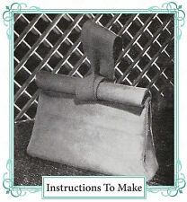 Vintage 1940s wartime womens sewing pattern-How to make a 1940s roll top handbag