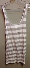 $46 New Youth Monument Brand Gray And White Stripe Tank Size M