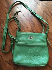 Dooney and Bourke leather medium crossbody green purse