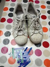 Adidas Superstar Adicolor White - Used - UK SIze 9 - with some inserts