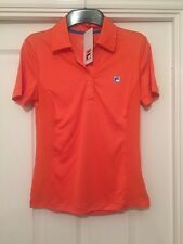 New Ladies Fila Sports Polo. Pina Style. Orange. Small (36) With Tags