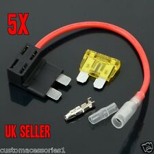 5 STANDARD ADD A CIRCUIT FUSE BOX HOLDER PIGGY BACK PLUG ATO ATC ACU UK SELLER