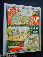 See Saw: A Book of Songs & Pictures c1882-1st, St Nicholas, Victorian Children's