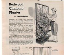 REDWOOD CLIMBING PLANTER PLANS PERFECT FOR CLIMBING FLOWERS OR VEGETABLES