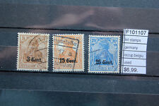 LOT STAMPS GERMANY OCCUPATION BELGIUM USED (F101107)