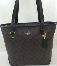 New COACH F34603 F58294 Zip Top Tote Handbag Purse Shoulder Bag Brown Black