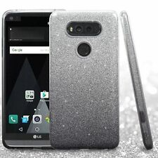 For LG V20 Black Hard TPU Hybrid Glitter Case Cover