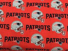 "NEW ENGLAND PATRIOTS NFL 60"" WIDE COTTON FABRIC BYT 1/2 YARD Fabric Traditions"