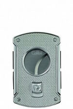 Colibri Slice Cigar Cutter Silver Carbon Fiber & Chrome 64 Ring Gauge Gift Boxed
