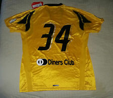 Aek athens football shirt jesey player issue #34# puma taille xl 2007/08 neuf
