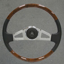 New 18 inch VIP25 Chrome and Leather/Wood Mack Steering Wheel, all models