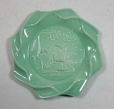 RED WING ART POTTERY Specialty Item MN LAND OF LAKES ASHTRAY Mint Green 7 INCHES