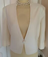 New+Tags JACQUES VERT Cream Bolero Jacket Suit Wedding Mother of Bride Size 22