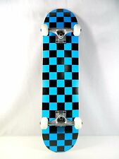 "Blank Checker Blue Complete 7.75"" Skateboard 7ply Maple Deck 5.0Truck 52mm Wheel"