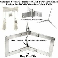 """BASE304 DIY 304 STAINLESS OUTDOOR 30"""" TABLE BASE for Fire Pit/ Table; BASE ONLY"""