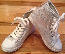 Gap Kids Girls Size 1 Silver High Top Tennis Shoes. Silver Shoes. Nwt