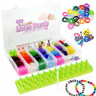 11,000pc Colourful Rainbow Rubber Loom Bands Bracelet Making Kit Set S Clips DIY