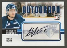 (56674) 2009-10 ITG HEROES and PROSPECTS AUTOGRAPH STEFAN ELLIOTT #A-SE