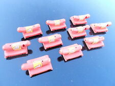 Lot 10 Vintage Oscar Mayer Meyer Weiner Plastic Toy Car Whistle Advertising (S9)