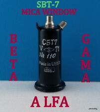 GEIGER MULLER TUBE GM COUNTERS SBT-7 СБТ-7 MICA WINDOW ALFA BETA GAMA  TESTED