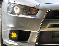 2008 - 2015 Mitsubishi Lancer EVO X Overly Fog Tint Yellow. JDM 4B11 Turbo