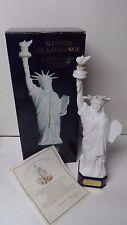 """GASTON de la GRANGE """"Statue of Liberty"""" LIMOGES Porcelain Cognac Bottle w Box"""