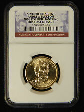2008-P Presidenti​al Dollar NGC BU First Day Of Issue - Andrew Jackson