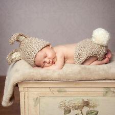 Newborn Baby Crochet Beanie Hat Cap Photography Prop Costume Cosplay Rabbit Cape