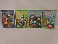 VeggieTales 4 DVD's Heroes of the Bible Wonderful Wizard Lord Beans Snoodles