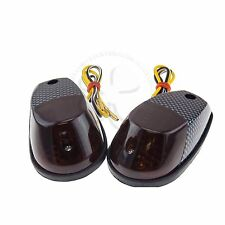 Carbon Motorcycle Surface Mount Turn Signal Blinker  Honda CBR RR 600 900 1000