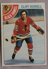 1978-79 TOPPS CLIFF KOROLL BLACK HAWKS #239  Hockey CarD LOT OF 2 NM-MT