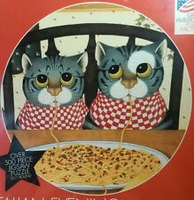 Cats Jigsaw Puzzle Linda Jane Smith Italian Evening Bits and Pieces Round 500
