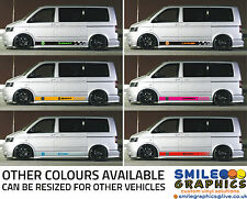 VW Volkswagen Transporter T5 Van stripes stickers graphics Customise your own