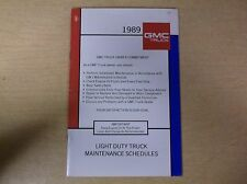 1989 GMC Truck Owner Commitment X-8922A Manual *FREE SHIPPING*