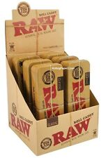Display of 6 RAW King Size Rolling Paper Cone Case CADDY Metal cigarette holders