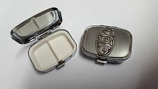 Celtic Shield PP-G36 English Pewter Emblem on a Rectangular Metal Pill Box