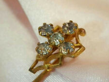 Pretty Victorian Vintage 1800's Antique Rhinestone Stick Pin 1521J5
