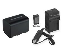 Battery + Charger for Sony DCR-DVD608 DCR-DVD608E NP-FH60