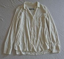 ~  RAQUEL ALLEGRA IVORY FLOWY BUTTON DOWN BLOUSE TOP (EASY BREEZY!) ~ 1 / S