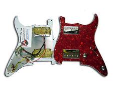 Dragonfire Prewired-Loaded Strat Pickguard HH 2 Humbucker, Red Pearl / Chrome