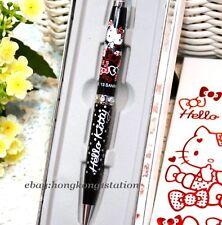 Authentic SWAROVSKI Sanrio Hello Kitty Cat White Crystal Ball Point Pen Blue Ink