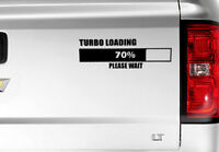 Turbo Loading Funny Sticker Car Dent Repair Window Bumper Vinyl Decal NOVELTY