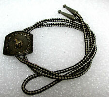 """PARA Western Bolo Tie Horse Silver-tone Stainless Slide Silver-tone Tips 18"""""""