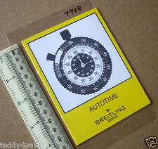 1970s Breitling Autotime Car Dashboard Stopwatch Timer Instruction Booklet. 7718