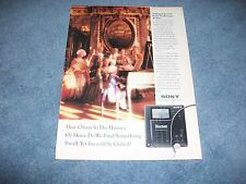 "1990 Sony Diskman D-35 Vintage Ad ""...Do We Find Something Small..."""